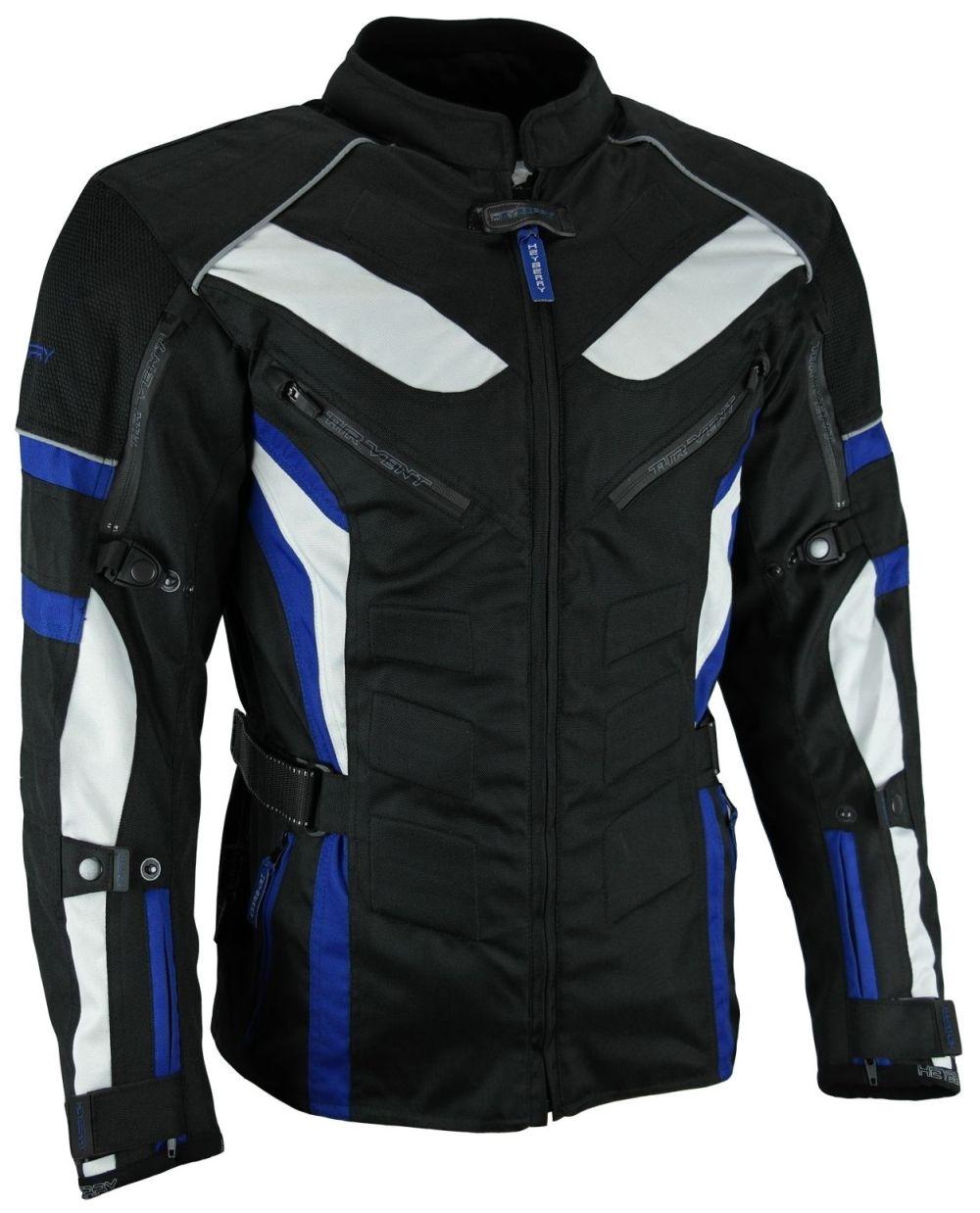 Heyberry Touren Motorrad Jacke Motorradjacke Textil schwarz blau Gr. M - 3XL