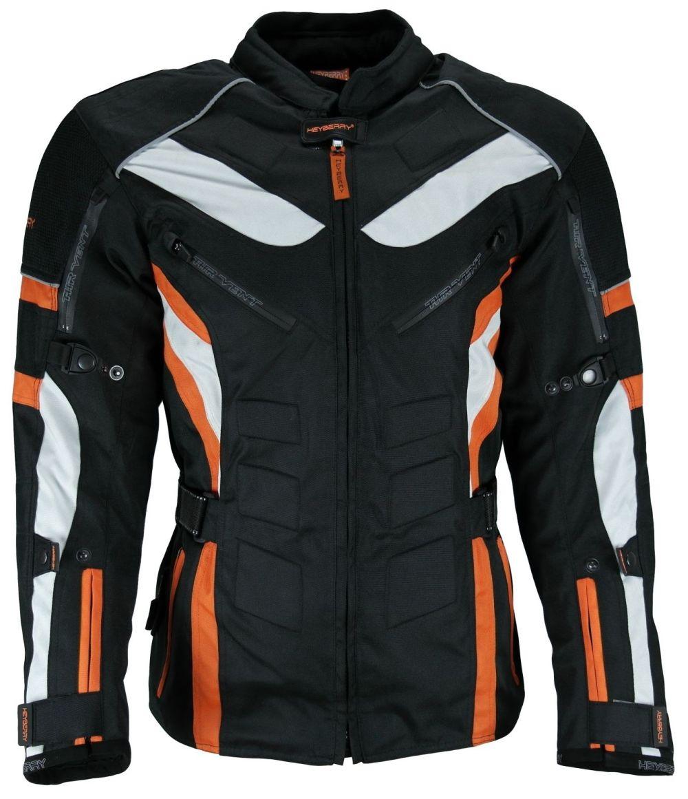 Heyberry Touren  Motorradjacke Textil schwarz orange Gr. M - 3XL